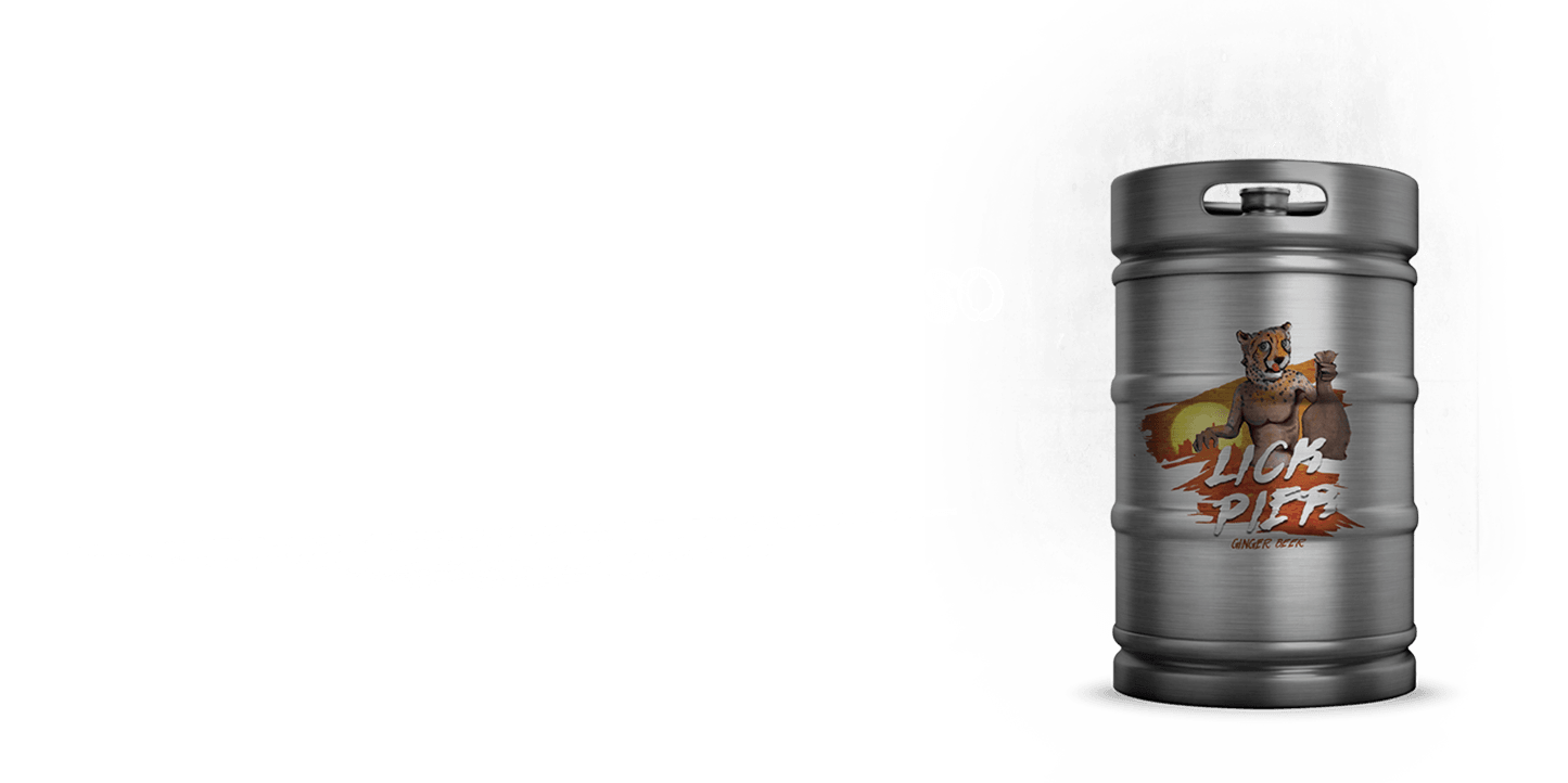 Lick Pier Ginger Beer - Keg Shot